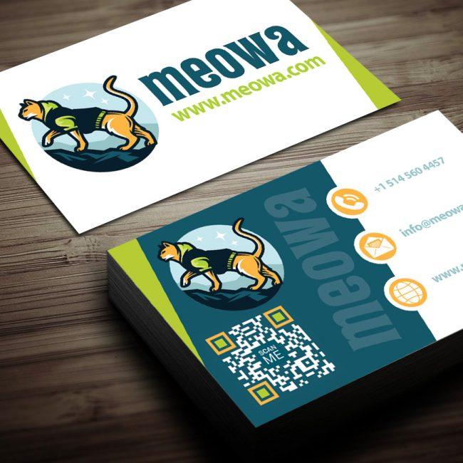 Meowa Business Card Design